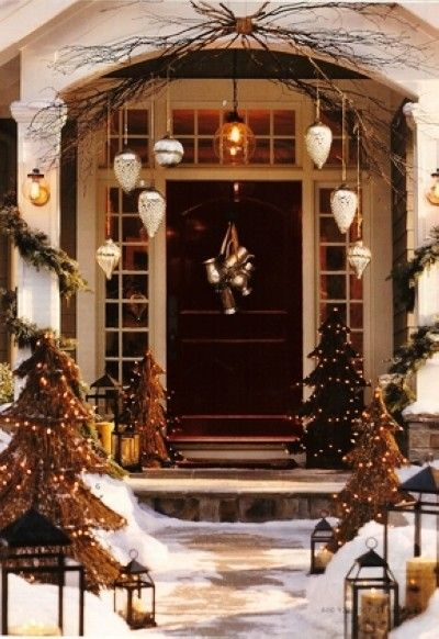 2013 Rustic Christmas Door Decor LED Tree Primitive Ideas