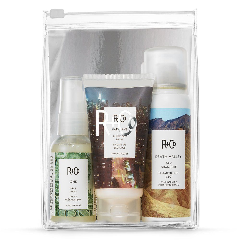 R Co Getaway Travel Size Hail Hair Lotion Set With One Prep Spray Blow Out Bomb And Dry Shampoo This Is An Travel Size Products Hair Lotion Dry Shampoo