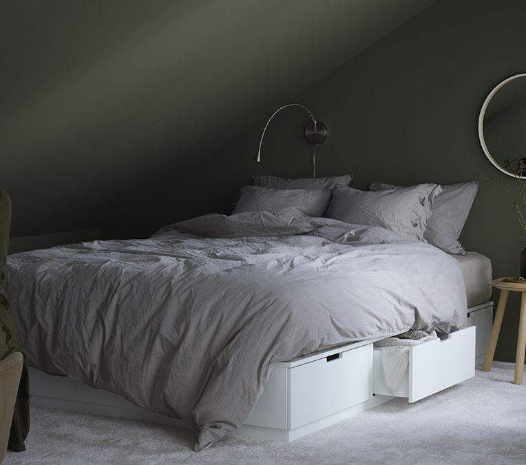 Nordli Bed Frame With Storage White King Ikea Ikea Bed Bed Frame With Storage Bed Frame