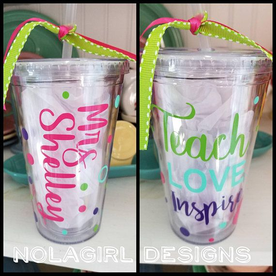 e293b390e54 Teacher Appreciation Gift, Tumbler, Teaching Assistant, Teach Love ...