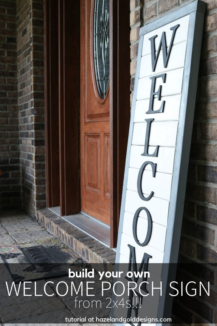Diy farmhouse style wooden sign for your front