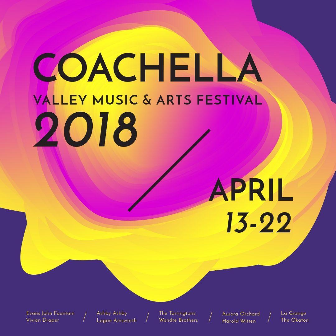 Free Templates For Coachella Festival Free Templates Coachell Free Graphic Design Software Coachella Valley Music And Arts Festival Graphic Design Software
