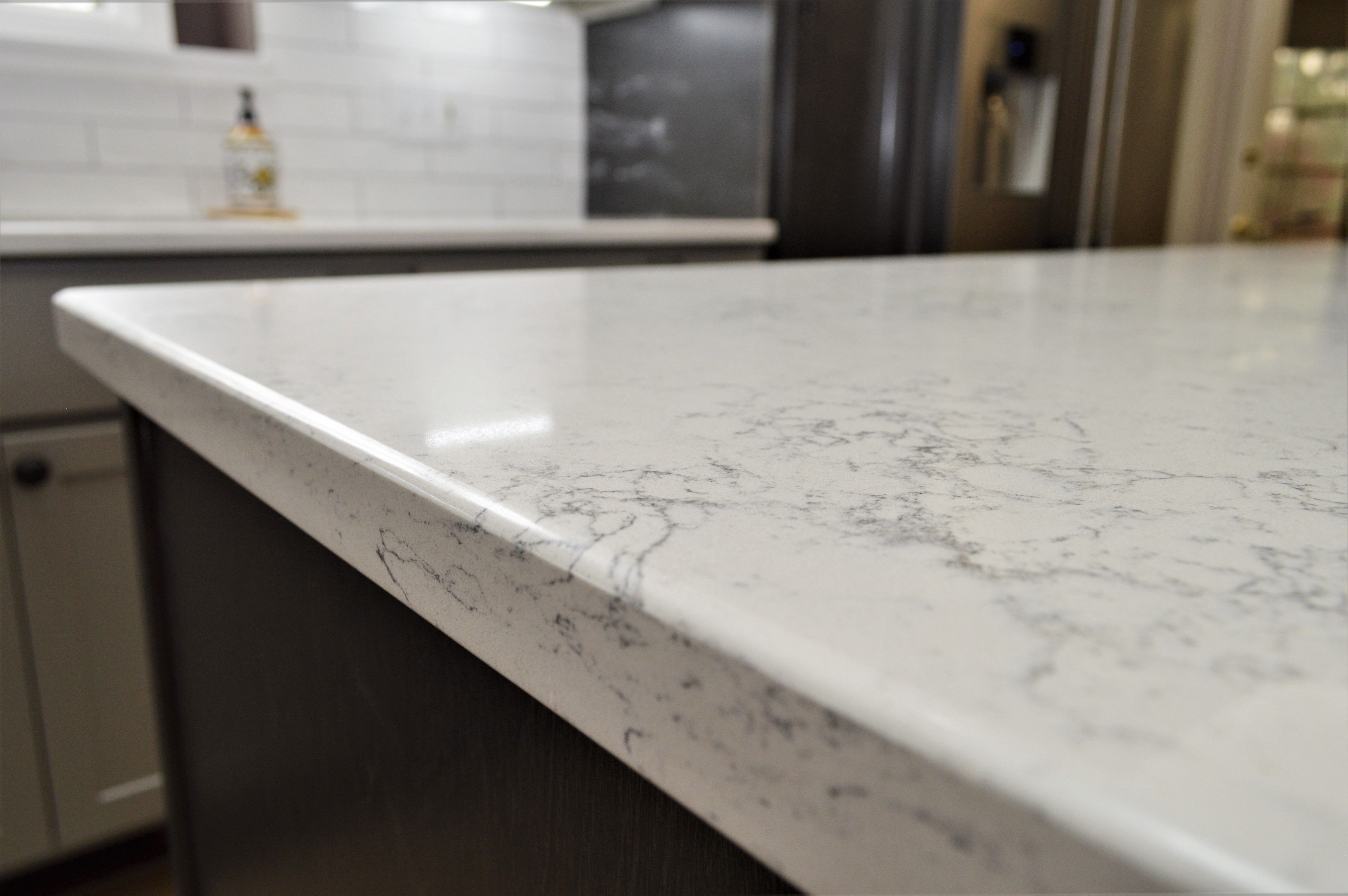 Quartz Counter Top Eased Edge Detail