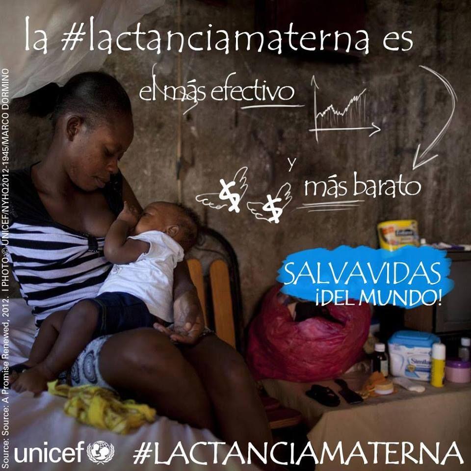 La lactancia materna es el salvavidas más efectivo y más barato del mundo.