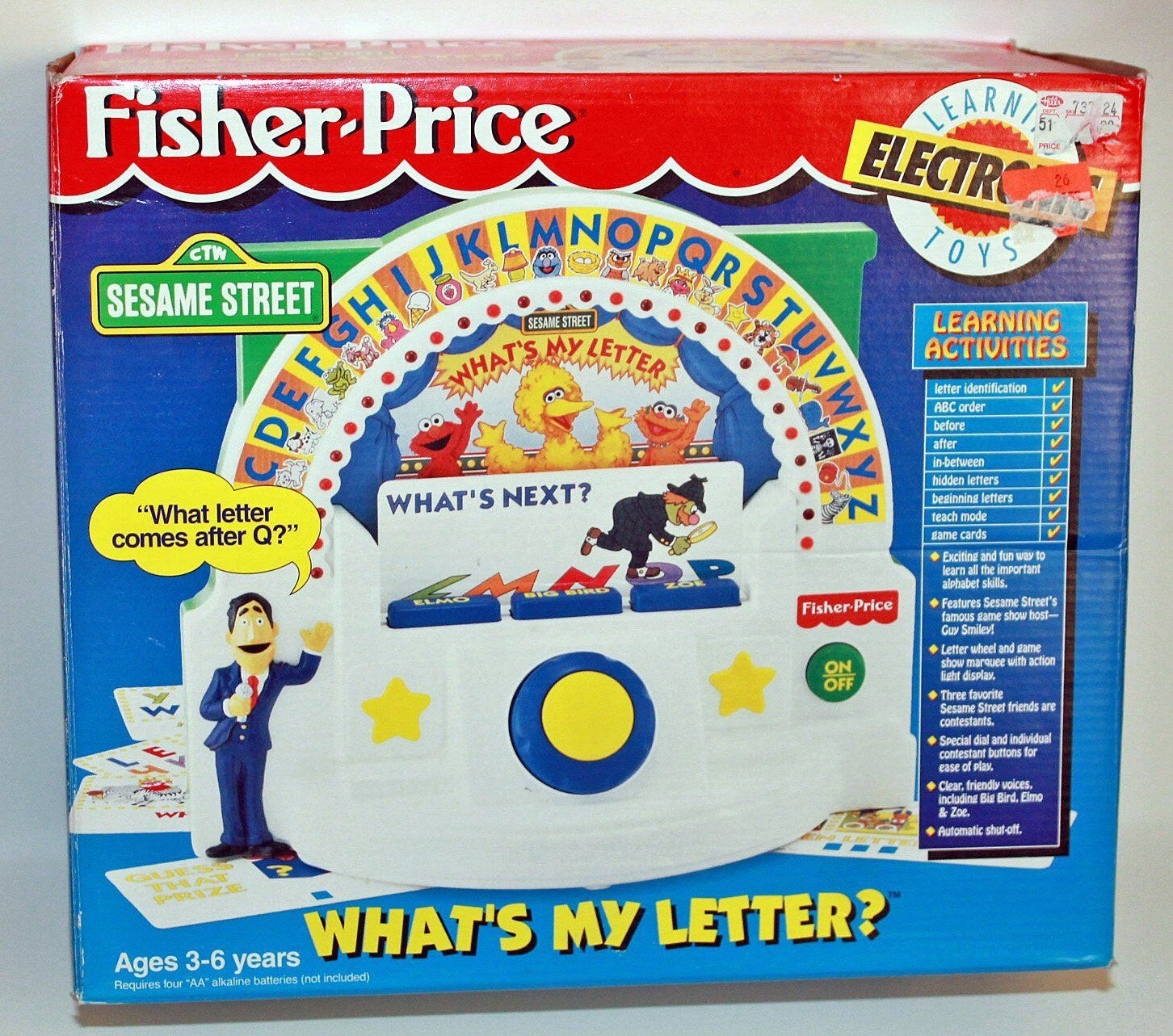 Sesame Street What's My Letter? Game