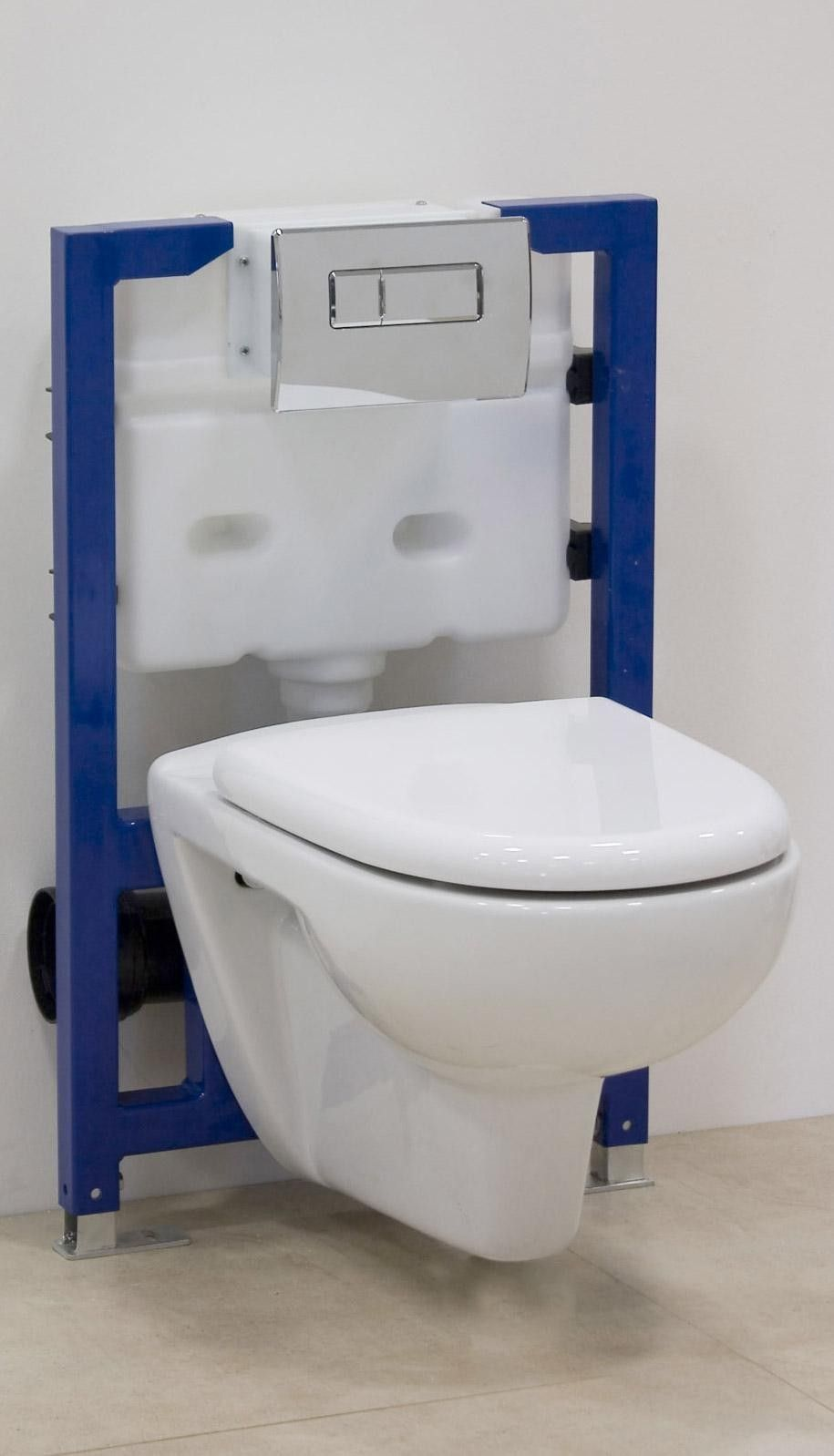 Mounting the concealed cistern. Accessory toilet with concealed cistern