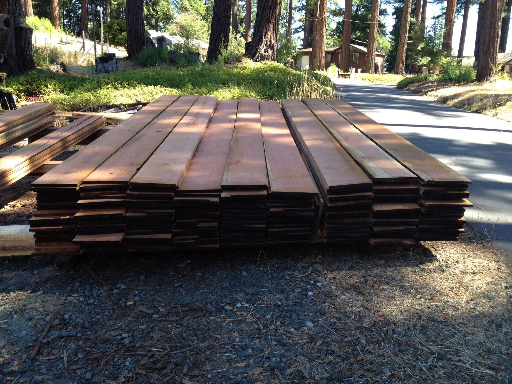 Air Dried 1x12 Rough Sawn Redwood For Sale All Grades Santacruzsawmill Com In Santa Cruz County California Redwood Lumber Redwood Slabs Rough Sawn Lumber