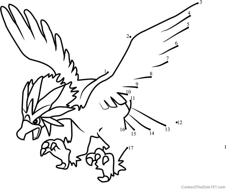 Pokemon Braviary Dot To Dot My Little Pony Coloring Pokemon Dinosaur Coloring Pages