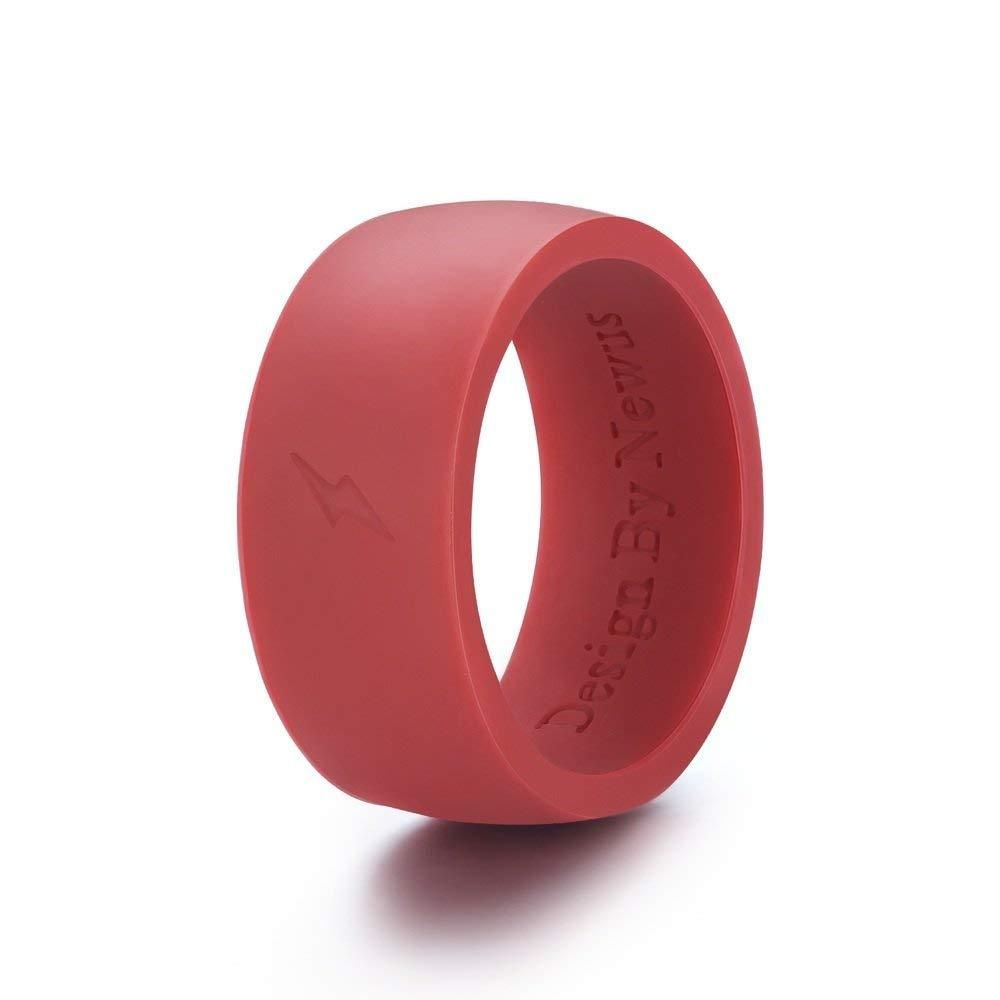 Silicone Wedding Ring, Comfortable Fit & Skin Safe, Rubber