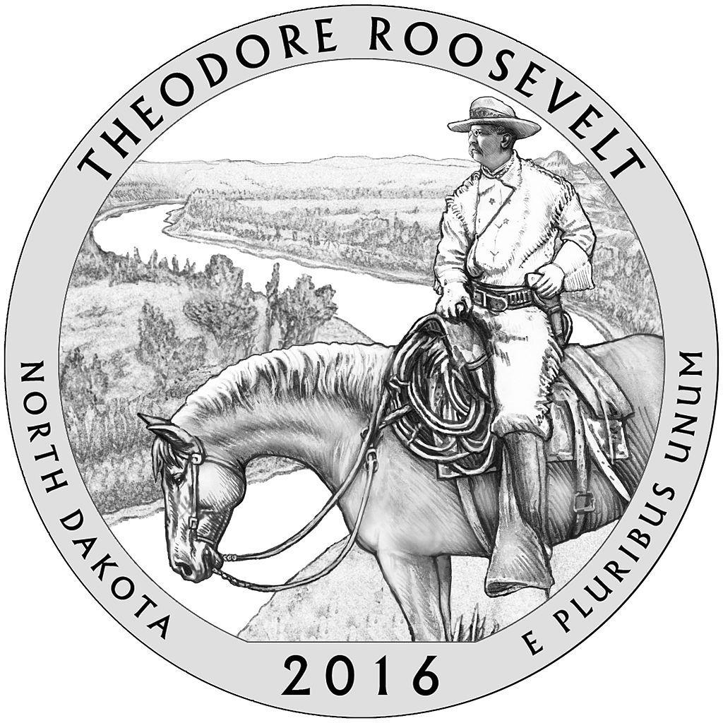 Theodore Roosevelt National Park Atb 5 Oz Silver
