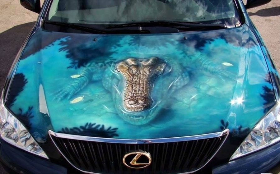 Alligator Car Paint Job Avtomobil Iskusstvo Aerografii Krutye Tachki
