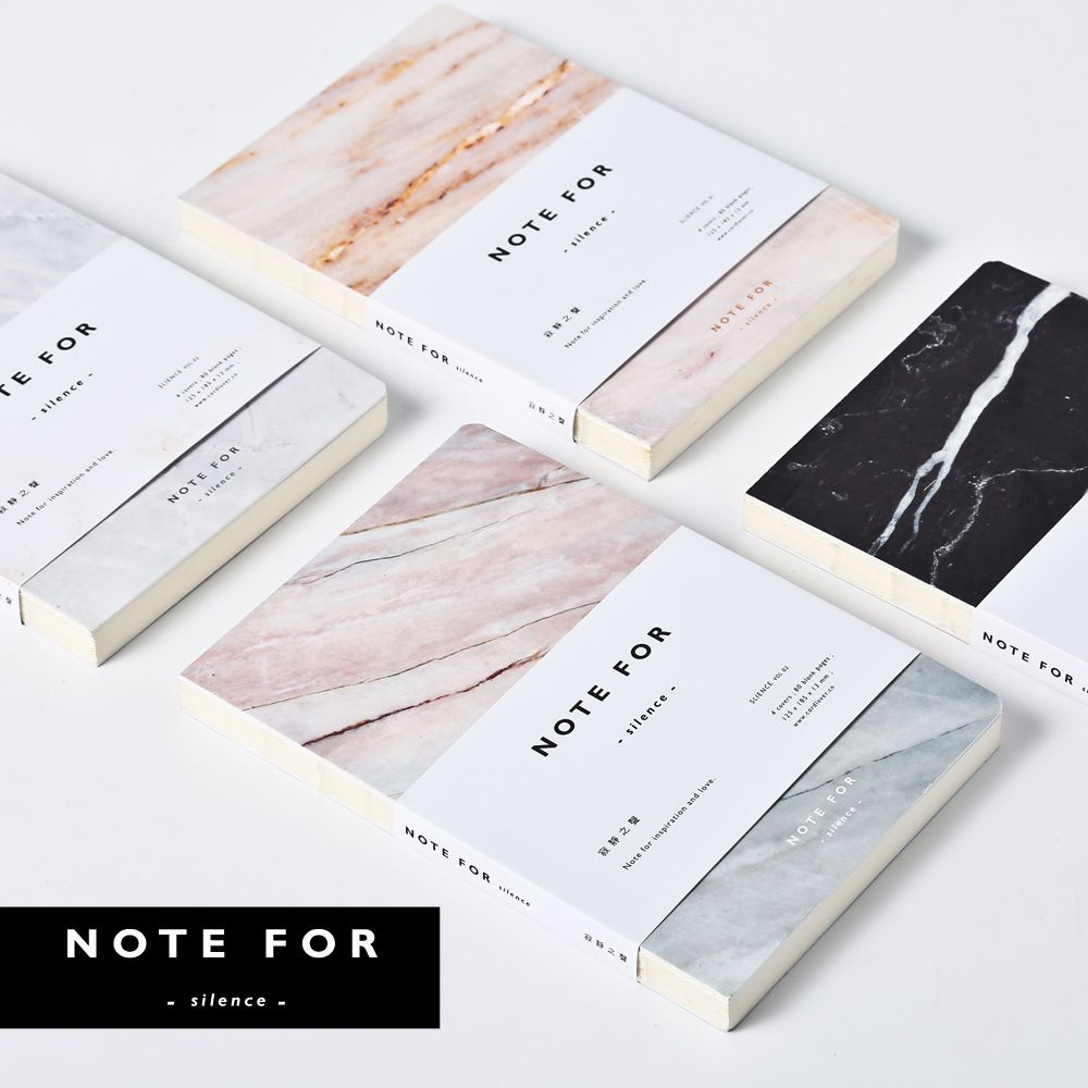 Japanese Cute Stationery Note For Silence 80 Pages Marble Designs A5