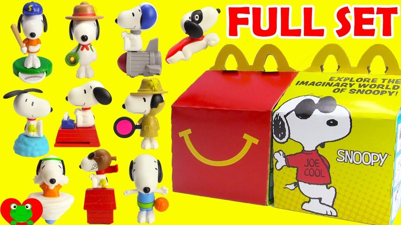 7b34d52602 2018 Peanuts Snoopy McDonald s Happy Meal Toys