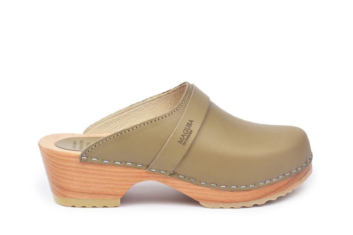 Berkeley Olive In 2020 Heeled Clogs Sandals High Heel Clogs Clog Heels