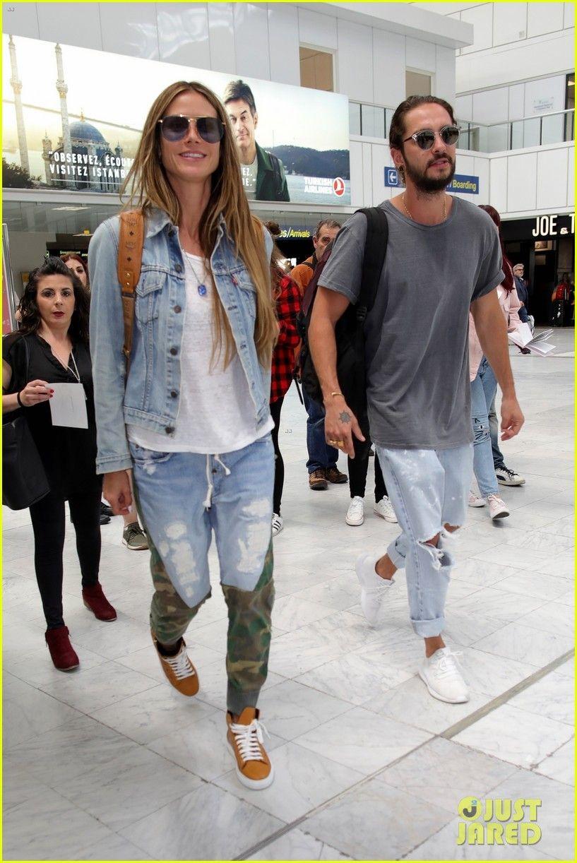 Heidi Klum Tom Kaulitz Hold Hands While Heading Out Of France