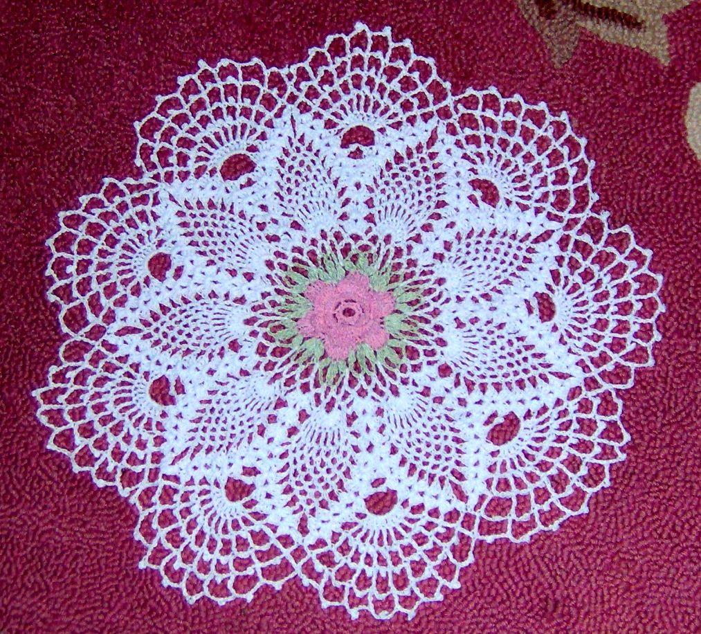 Coming Again! Chic White Flower Hand Crochet Cotton Doily D