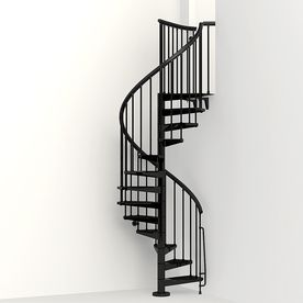 Best Arke Eureka 47 In X 10 Ft Black Spiral Staircase Kit 400 x 300