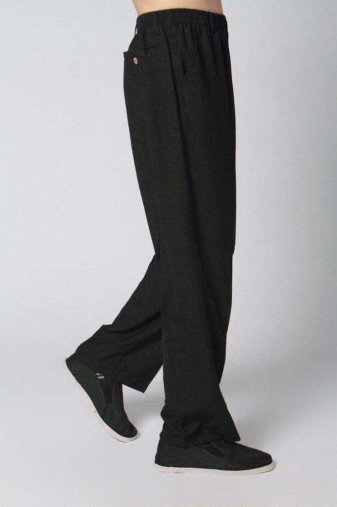 navy blue Chinese Men/'s Linen//cotton Ku fu pants trousers Sz:M L XL XXL XXXL