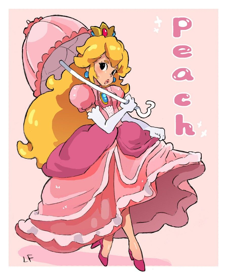 ゆうまりみ on Twitter | Princess peach mario kart, Super mario art, Peach mario kart