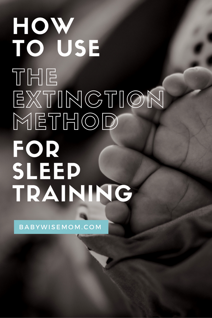 how to use the extinction method for sleep training crying and babies