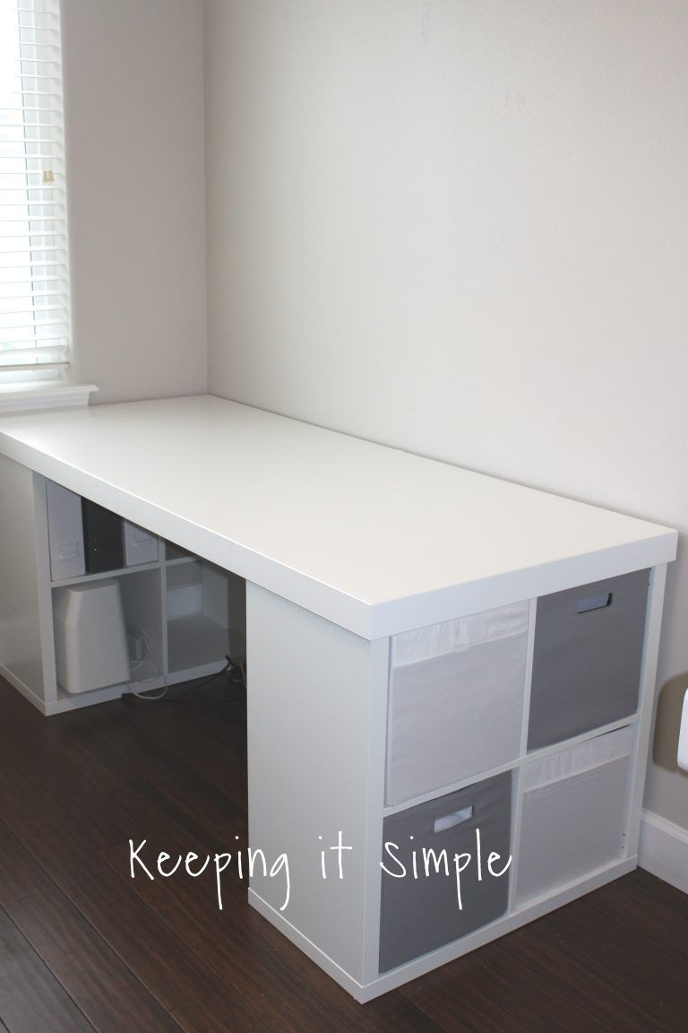 Ikea Hack Diy Computer Desk With Kallax Shelves Keeping It Simple Diy Computer Desk Kallax Shelf Ikea Hack