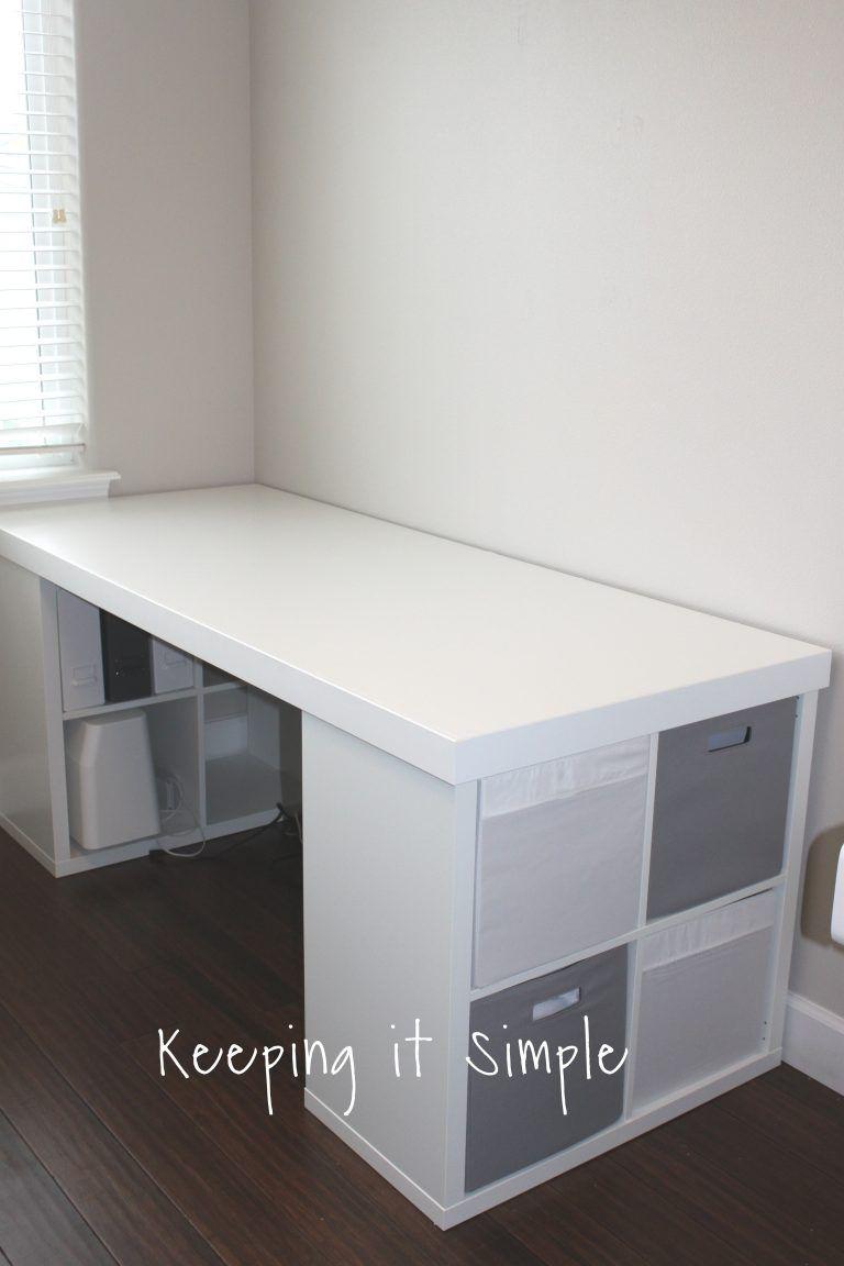 Ikea Hack Diy Computer Desk With Kallax Shelves Diy Computer