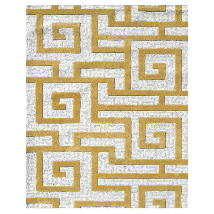 Julien Hand-Tufted Gold/Cream Area Rug