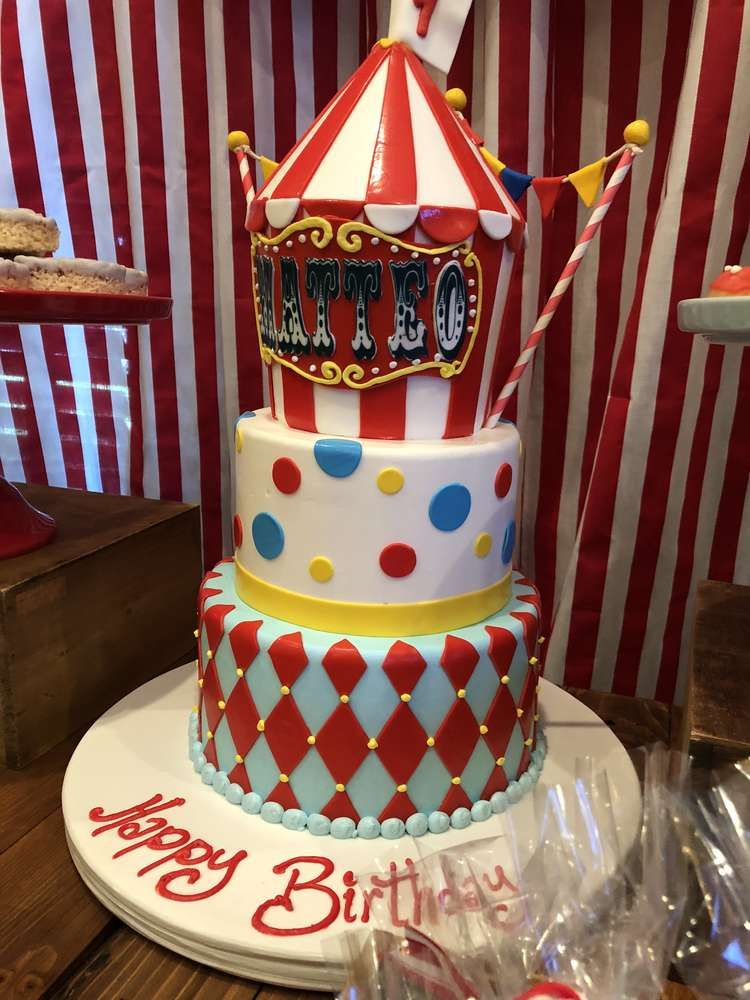 Vintage Circus Birthday Party Ideas In 2019