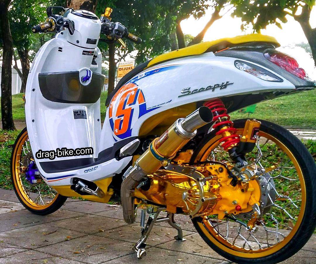 40 Foto Gambar Modifikasi Scoopy Thailook Simple Jari Jari Velg 17 Drag Bike Com Motor Velg Gambar