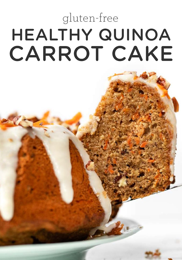 Healthy Carrot Cake Recipe With Quinoa Applesauce Simply Quinoa Recipe Healthy Cake Recipes Carrot Cake Recipe Healthy Healthy Cake