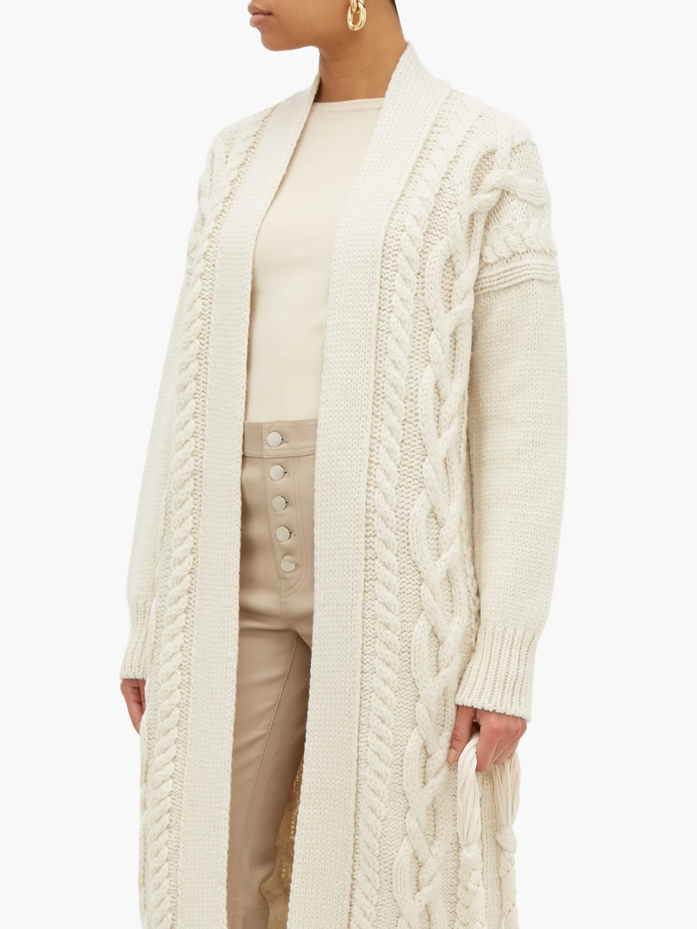 Long Line Cashmere Cardigan Jacket