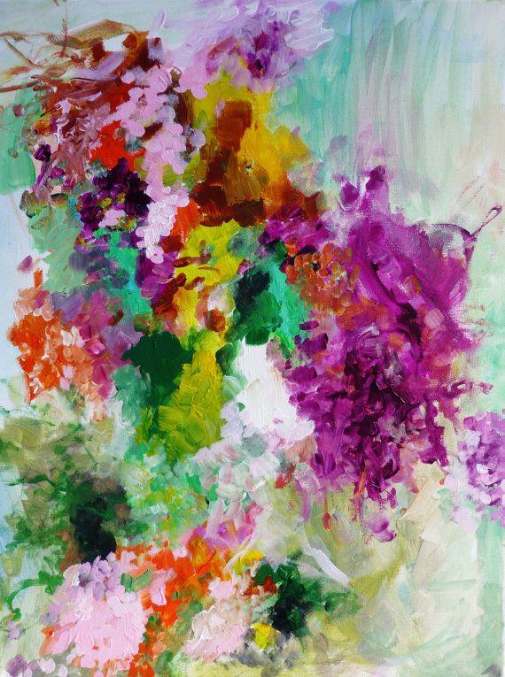 Arbre D'hiver Original Floral Painting 18x24 by ArtbyAutumnRose, $575.00