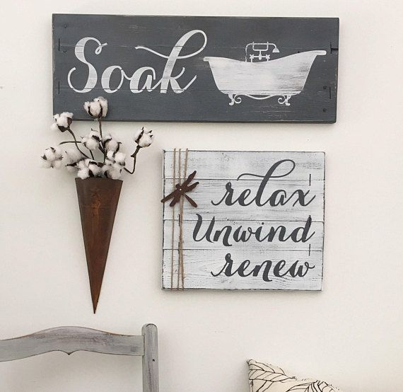This Item Is Unavailable Etsy Rustic Bathroom Decor Relax