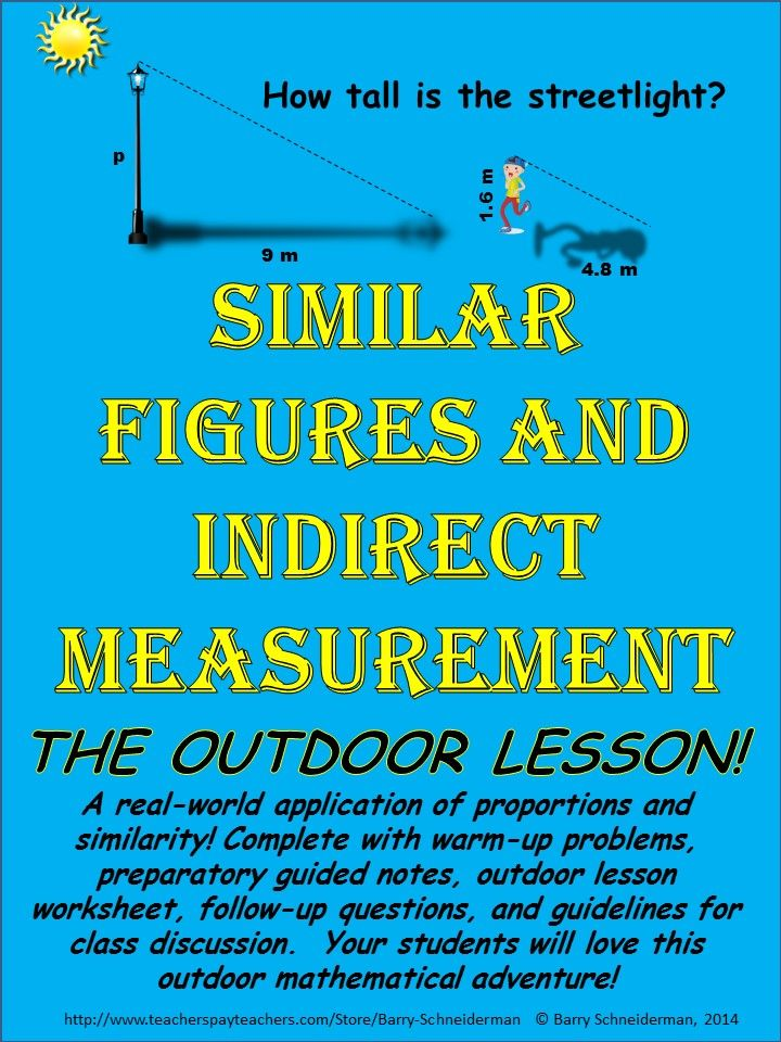 Similar Figures Indirect Measurement Using Similar Triangles To