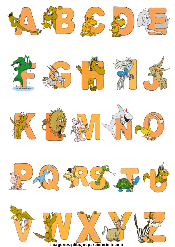 Abecedario De Animales Para Imprimir Animal Alphabet Animal Design Illustration Cartoon Animals