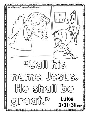 Free Christian Christmas Coloring Pages And Bible Memory Cards These Work Perf Christmas Sunday School Christmas Sunday School Lessons Sunday School Preschool