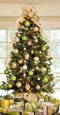 Arvore De Natal Com Bolas Verdes E Douradas Com Imagens Natal