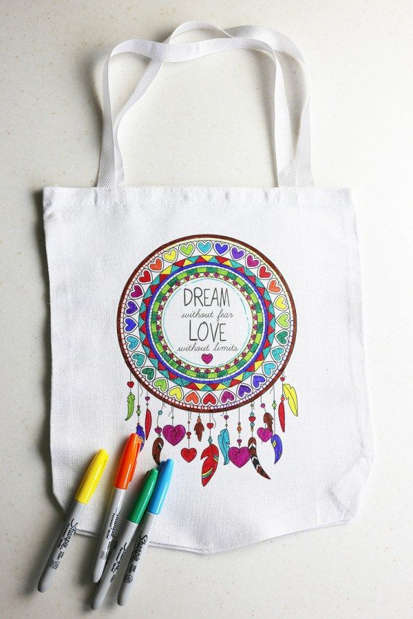 Coloring Page To A Tote Hack Art Bag Kids Tote Bag Coloring Books