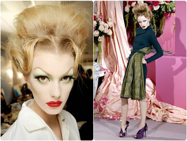 John Galliano inspired from the face of Millicent Rogers for Spring Summer 20012, Dior