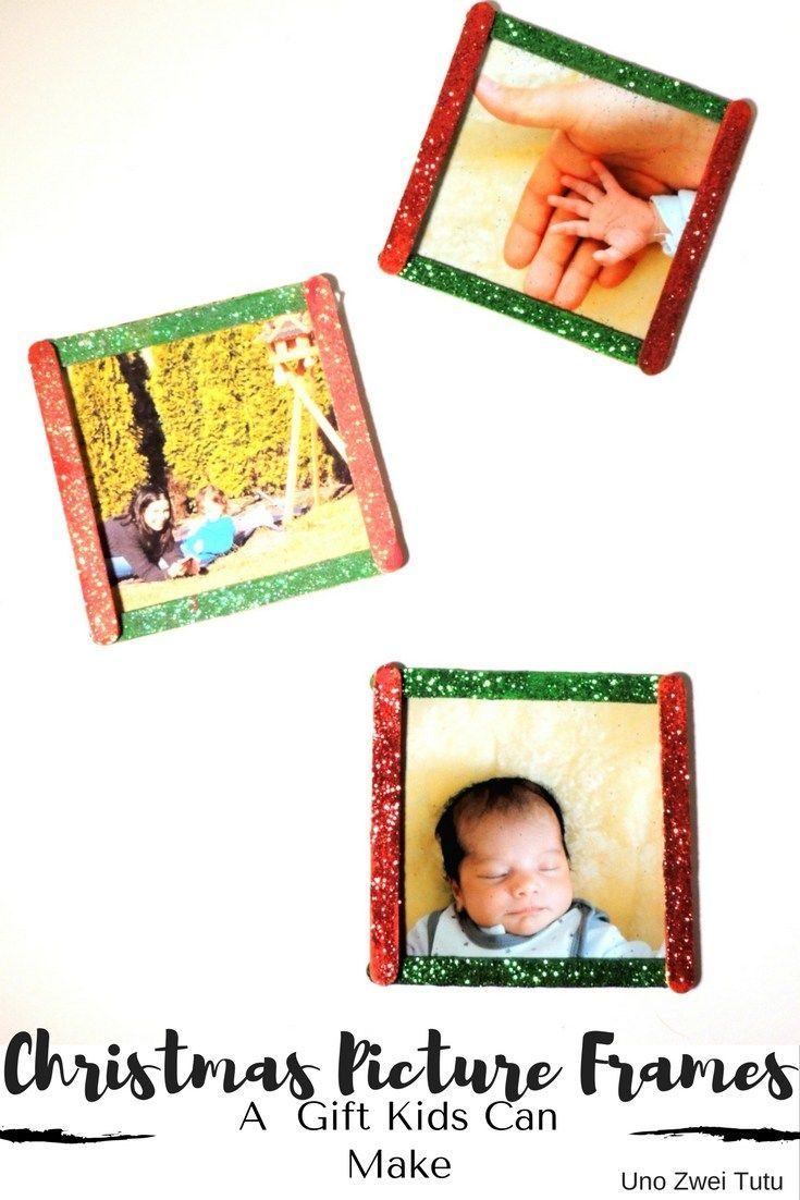 christmas picture frames a beautiful gift kids can easily make homemade christmas gifts craft sticks and easy homemade christmas gifts