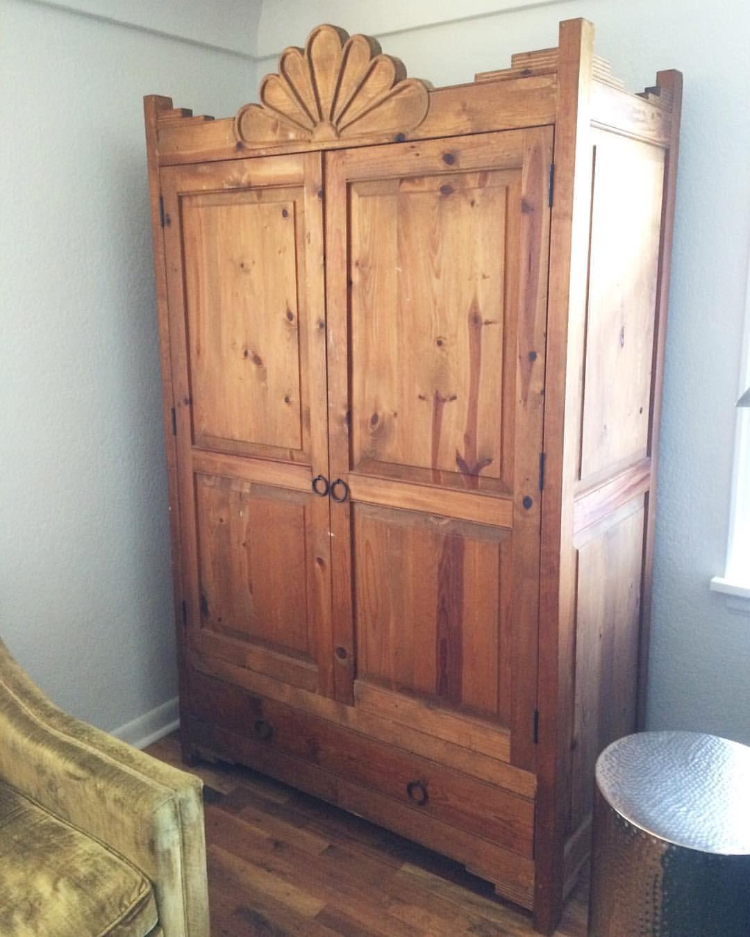 Em's September birthday gift-$100 antique pine cabinet ...