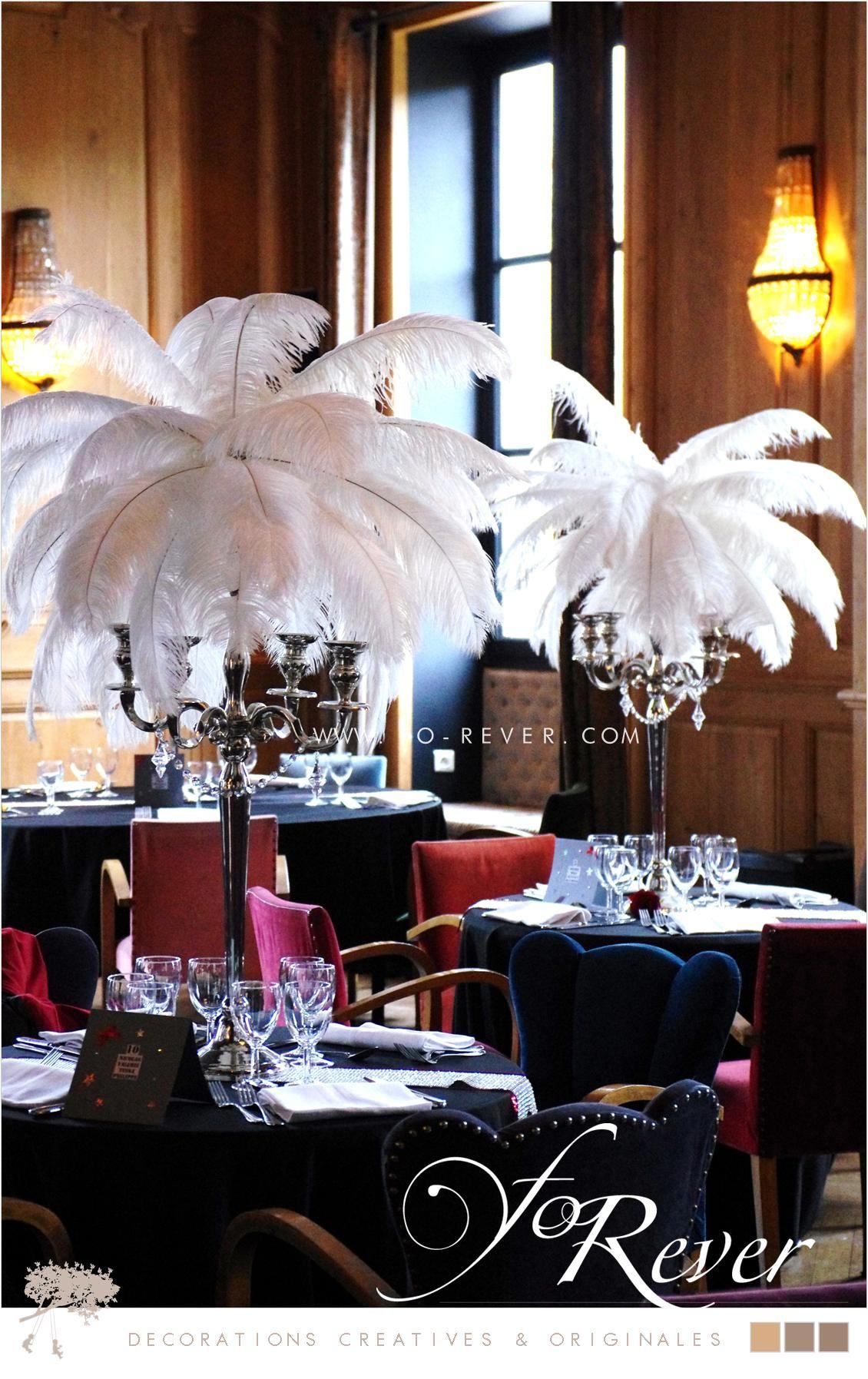 centre de table palmier plume forever mariage deco tropicale pinterest weddings. Black Bedroom Furniture Sets. Home Design Ideas