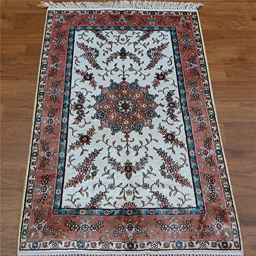 Camel Carpet Handmade Silk White And Pink Affordable Oriental Rugs 2 5 X4 Http
