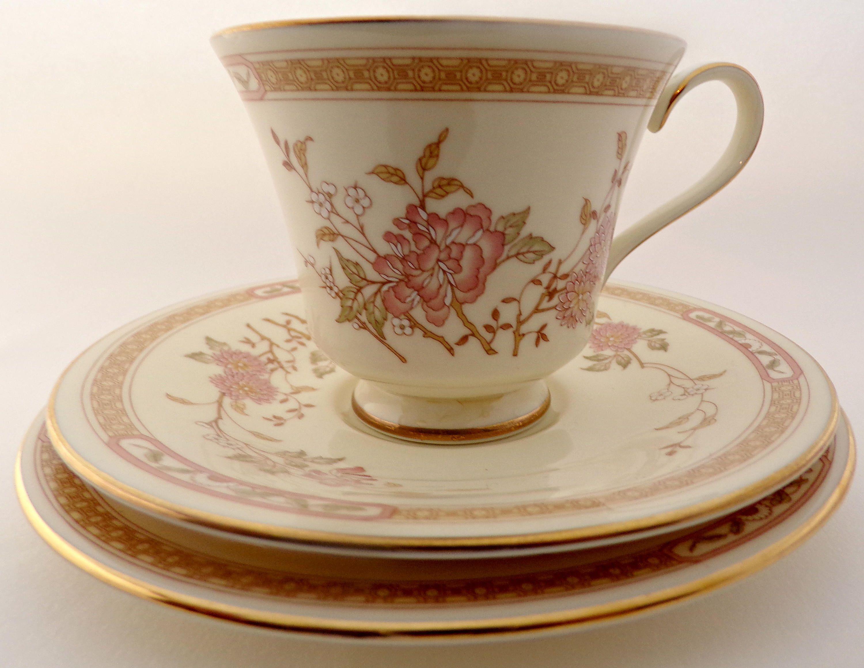 Vintage Teacup, Trio, Tea Cup, Royal Doulton, Lisette, Romance Collection,