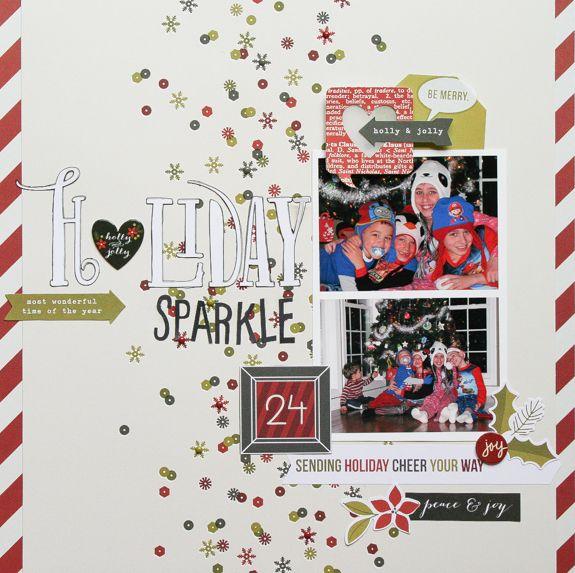 Holiday Sparkle - #SimpleStories DIY #Christmas