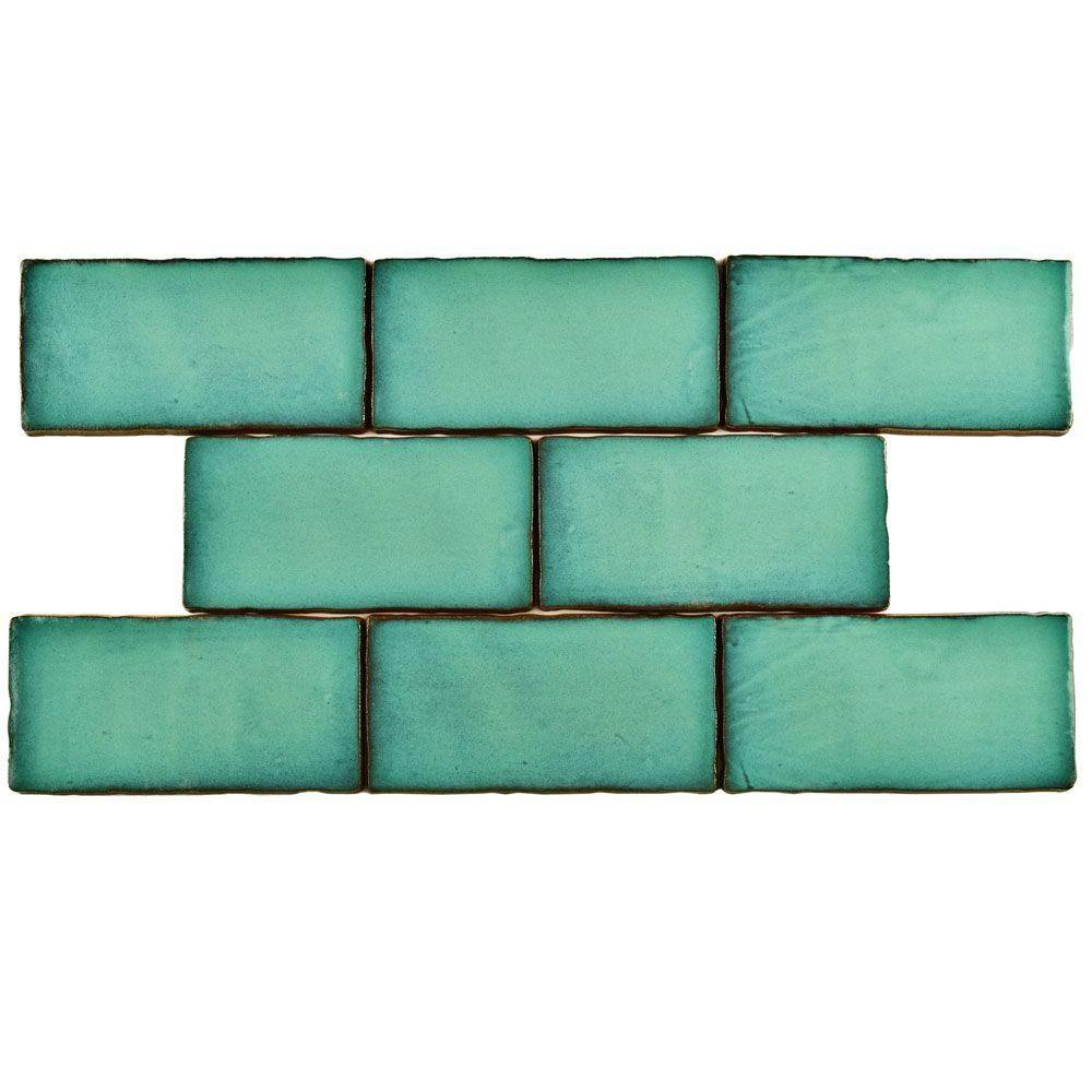 Merola tile antic special lava verde 3 in x 6 in ceramic wall tile merola tile antic special lava verde 3 in x 6 in ceramic wall tile dailygadgetfo Gallery
