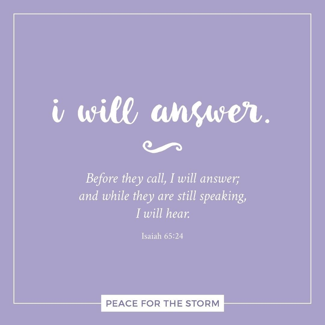 I Will Answer Scripture Quotes Faith In God Quotes About God