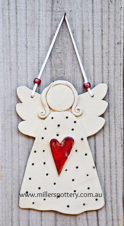 Australian Handmade Ceramic Angel By Www Millerspottery Com