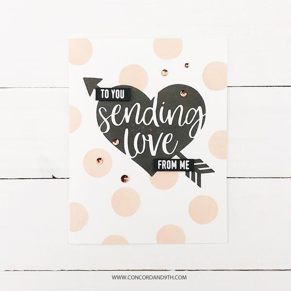sending love  valentine heart card inspirational cards