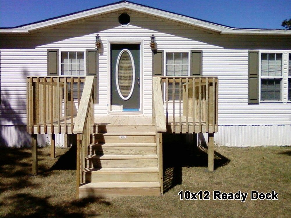 10 X 12 Ready Deck Ready Decks Top Deck Builder Mobile Home Porch Manufactured Home Porch Building A Porch